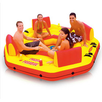 Marine intex-58286 chaise lounge water floating row floating bed water