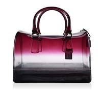 Female bag of candy color transparent gradient Pillow bag jelly bag