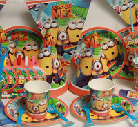 2014 New 72pcs Luxury Kids Birthday Decoration Set Despicable ME2 Minions Theme Party Supplies Baby Birthday Party Pack #CK-888