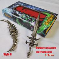 World of Warcraft Weapon Illidan game Metal KeyChain Boy Love Birthday Gift wow Gift