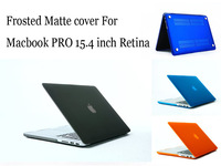 "For MacBook retina 15.4""  Frosted Matte 11 colors  Laptop Hard Case Cover For New Macbook pro 15.4 inch  Retina (A1398)"