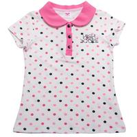 2014 New Girls Polka Dots Cute Shirts Tops Summer Sweet Free Shipping, K6354