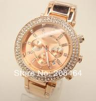 Fashion new korss watch with two round rhinestone, 1pc/lot Free Shipping high quality popular watch Korss watch