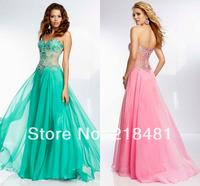 bg-12 2014 newest popular hotsale hand make elegant fashion sweetheart crystal tulle prom dress