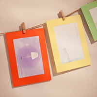 Multi Color Paper Photo Frame Decoration Foto Frames Picture Frame Home Decor Photo Gift Photo Album frame da foto