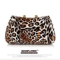 Free Shipping!2014 New !Fashion Leopard Print  Multicolor  Ladies Handbags Wedding Party Bag Chain Bag Women Handbags. 30011