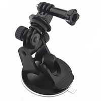 Black Plastic GOPRO Mount Adapter Strong Window Car Glass Suction Cup Trip New