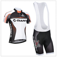 Newest 2014 giant TEAM cycling jersey/ cycling clothing/ cycling wear short (bib) suit-giant-3D Free Shipping bicycle clothing