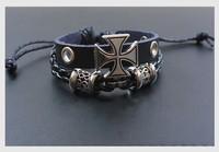 Roman Cross Men Personalized Bracelet Hand-woven Bracelet Jewelry