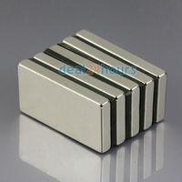 5PCS N50 Bulk Super Strong Block Cuboid Magnets Rare Earth Neodymium 40 x 20 x 5 mm Free Shipping