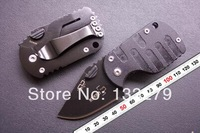2pcs/lot Boker QQ Black Pig Hunting Folding Mini Pocket knife Tactical 55HRC ,Best gift Free shipping