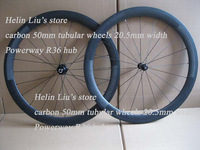 Lightest Straight Pull Powerway R36 Carbon Hubs,carbon 50mm tubular wheels 20.5mm width