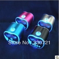 Mini Portable MP3 Speaker Micro SD TF Card USB Disk with FM Radio Free Shipping 100pcs free shipping