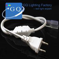5050 led power plug  110V 120V 220V 230V 240v  Waterproof string ribbon bundle Christmas LED strip tape lighting lamp
