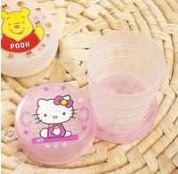 Hot Creative Home Korean children's cartoon folding portable travel mug fold cup telescopic cup free shipping 5 pcs