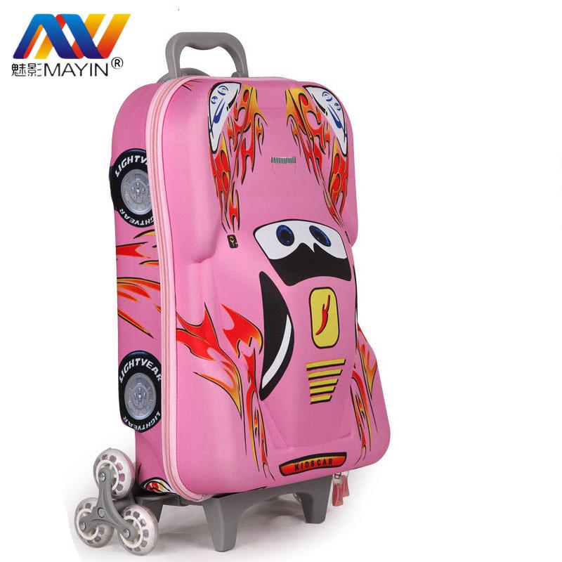 School Bags for Girls Boys Mochilas Kids Cartoon Wheeled Backpack ...