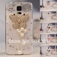 Crystal Handmade lady's Rhinestone Cover Case For Samsung Galaxy S5 i9600  Phone