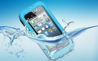 Durable Dirt Shockproof Silicone Waterproof Cover Case For Iphone 4 4S 5 5S+Free Shipping