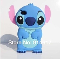 New arrival 3d Stitch protective case for  4 4s,lovely cartoon 3d stich case