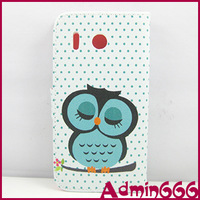New Fashion Lovely Sleep Owl With Smile High Quality Leather Case Cover Skin For huawei ascend g510 case
