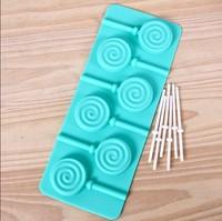 NEW product free shipping! 1PCS hot sale chocolate silicone lollipop mold fondant Cake decoration mold Freeze Ice Cube Tray Mold