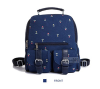 2014 New Arrival Korean Style Fashion Casual Blue Printing Canvas  School Women Bags