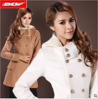 free shipping 5080  autumn and winter female woolen outerwear overcoat slim medium-long women's plus size  woolen coat