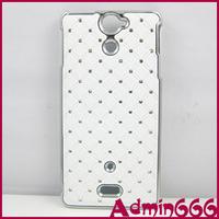 Cover For Sony Xperia V White Top Star Bling Stone Hard Plastic Case For Sony Xperia V Lt25i Case