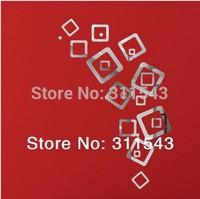 3D mirror wall stickers 21 square decorative wall stickers portfolio wedding gift S07