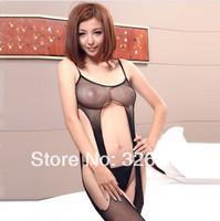 Wholesale Hollow out Sexy Lingerie Body Suit Teddies Set Women Black Corset g string Fishnet Body Stockings Baby Dolls RJ2178