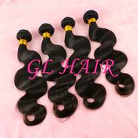 Cheap Indian Hair Body Wave Mix Size 4pcs Lot Natural Black Human Indian Hair Grade 6A Free Shipping