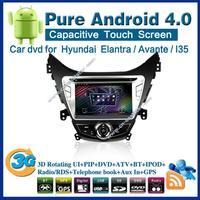 Pure android 4.0 Car DVD for Hyundai Elantra Avante I35 with GPS Bluetooth car kit TV USB Wifi 3G Free shipping 2376