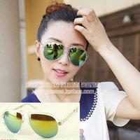 Transparent box alloy mirror multi-colored reflective lens sunglasses fashion sunglasses 116s 16  10pcs
