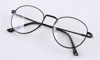 Metal alloy plain mirror preppy style glasses 9254 10  10pcs