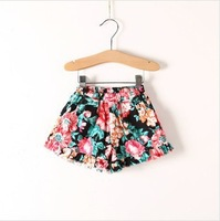 2014 summer new girls casual printed flower shorts girls fashion floral shorts kids shorts for girls children's shorts 2t-10t