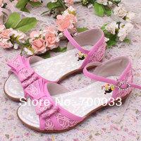 SoKoll Brand 2014 Newest Design Children Girls Flat Sandals For Kids Summer Sandals Drop Shipping
