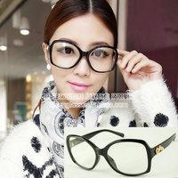 High quality luxury queen of baroque star plain mirror golden rose black glasses 3188 15  10pcs