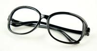 Big box bow plain mirror black women's glasses klp353 2  10pcs