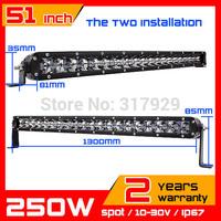 250w CREE  LED Light  Bar 10-30v Spot IP67 adjustable bracket SUV Truck  ATV Fog Light Auto Offroad CREE LED Work Light 2014 New