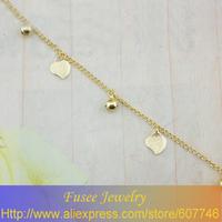 ISZ00448 18K gold plated Filled Heart-shaped pendant Bracelet 2pcs/lot