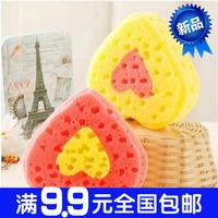 1165 Large heart bath sponge shower bath brush love at home clean wipes