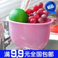 2903 strawberry dot shuiguolan fruit plate plastic drain basket storage basket