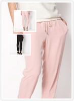 2014 Summer Women's Candy Color Harem Pants & Capris Trousers For Women Elastic Waist Ladies Desigual Brand Sweatpants Female