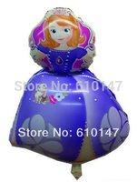NEW Free shipping 50pcs/lot Sofia Princess foil balloon,Helium balloon, party supplies