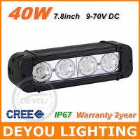 2pcs 40W CREE LED Work Light Bar Spot Flood Driving Off Road SUV 4WD car drl fog Light lamp free shipping