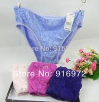 Hot sale Women Sexy  cotton lace  panties  women's panties  mix colors  12.9/5pcs Free shipping
