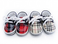 free shipping NEW fashion British style Lattice baby first walkers spring&autumn bebe shoes anti-slip walkers unisex