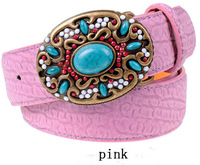Europe and United States seven colors Stones and beads fashion tide agio belt Fashion women jeans joker belt