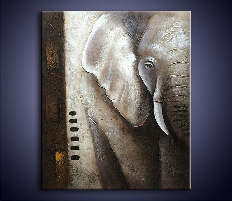 Painted Elephants Photography Elephants Painting Modern