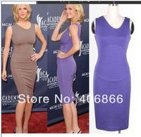 2014 New Women V-Neck Sleeveless Elegant Casual Full Zipper Party Pencil Dress